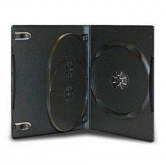 14MM DVD CASE 3-IN-1 BLACK 20pcs/pack