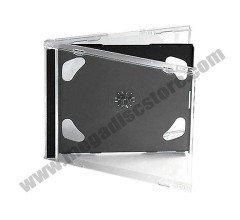 10.4mm Jewel Case Double Black 50 Pcs/Pack