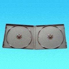 10MM PP CD CASE DOUBLE BLACK 50pcs per pack