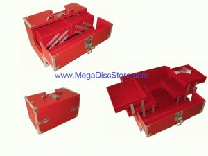 Stylish Make Up Case Red Free Shipping