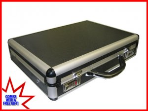 """Black Aluminum Laptop Breif Case for 15-17"""" Notebook Ship to Canada And USA"""