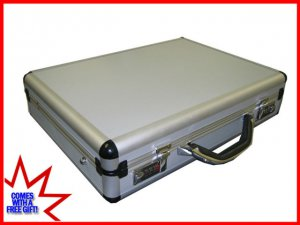 """Silver Aluminum Laptop Breif Case for 15-17"""" Notebook Ship to Canada And USA"""