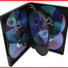 22mm 6 Tray DVD Movie Game Case Black Multi 6 Disc overlap 20 Pk Canada n USA
