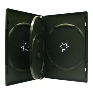 14mm Quad DVD CD Movie Game Case Black Multi 4 Disc with Flip 18 Pk Canada n USA