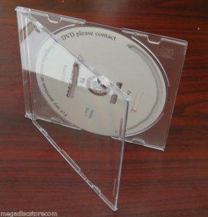 5.2mm Single CD Slim Jewel Case W Frosy Clear Tray 50 Pk CANADA n USA