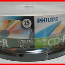 25 Philips Digital Audio CD-R DA Music Recordable Blank CD Media Disk Free Ship