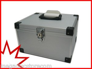 300 CD DVD PREMIUM ALUMINUM LIKE STORAGE CARRYING CASE SILVER