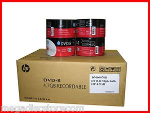 Wholesale 600 Pk New HP 16x DVD-R Media Disk 4.7GB 120MIN Blank Recordable DVD