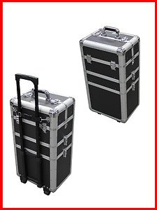 3 in 1 Aluminum Professional Rolling Cosmetic Makeup Train Case Canada n USA