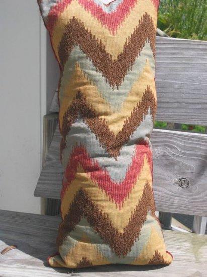 Long zig zag pattern pillow