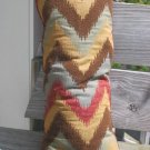 Long zig zag pattern pillow