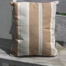 blue beige stripe pillow