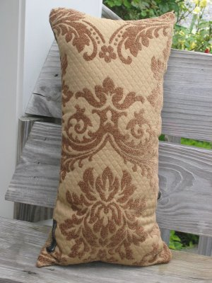 Green and gold pillow