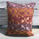 Purple, lilac, bronze circle pillow