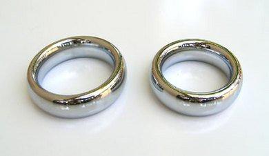 Chrome Donut Cock Ring Medium