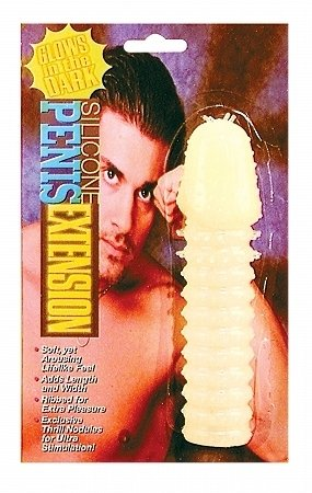 Silicone Penis Extension Glow