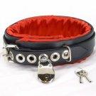 Locking Red Satin Padded Collar