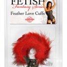 Feather Love Cuffs - Red