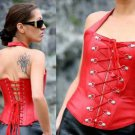 Leather Exotic Fantasy Laced Boned Cincher