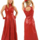 Leather Fetish Fantasy Evening Long Dress - Large
