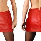 Leather Fetish Dancer Cheerleader Skirt - Small