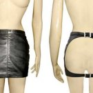 Leather Fetish Fantasy Punk Spanking Skirt - Small