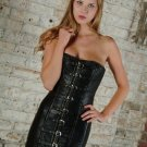Leather Steel Boned Corset Dress - Large