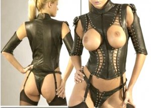 Leather Cupless Laced Teddy - Medium
