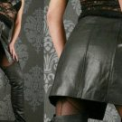 Leather Fetish Party Front Buttoned Black Skirt - Small