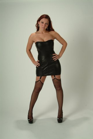 Leather Exotic Fetish Dress - Large