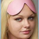 Pink Bound Leather Blindfold