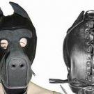 Leather Black Bondage Zipper Donkey Mask