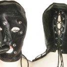 Leather Bonadage Blindfold Mouth Gag Mask