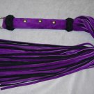 "54"" Leather and Suede Purple/Black"