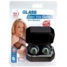 Blue Flower Glass Ben-Wa Balls