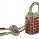 Red Rhinestone Lock