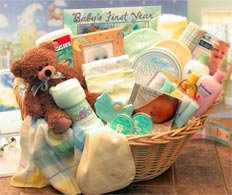 Deluxe Welcome Home Precious Baby Gift Basket