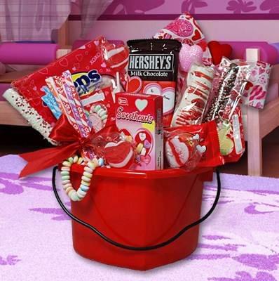 Valentine's Day Hearts Gift Basket