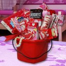 Valentine's Day Hearts Gift Basket