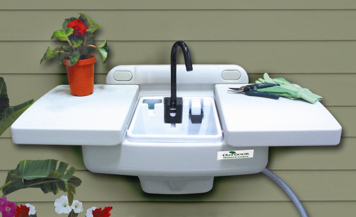 Kitchen Sink Plumbing Outside Wall
