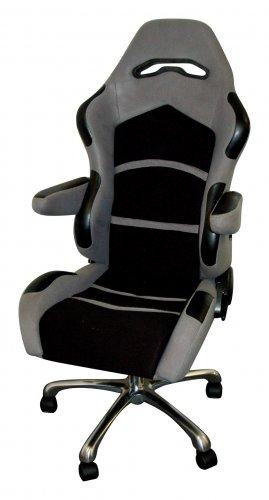 Racing Seat Office Chair Grey/Black