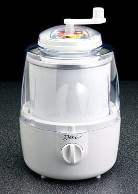 Deni Automatic Ice Cream Maker with Candy Crusher White
