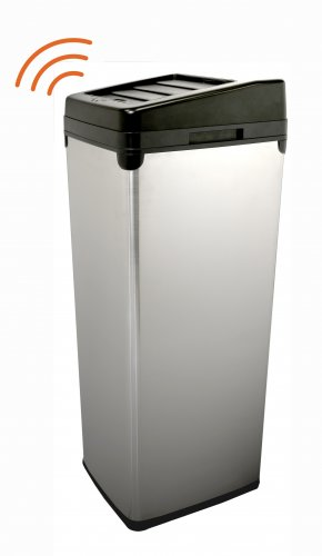 52 Liter Touchless Trashcan Square Stainless