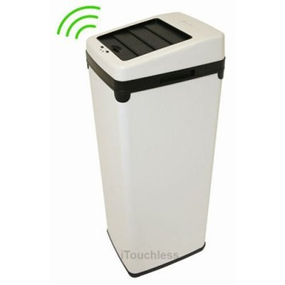 52 Liter Touchless Trashcan Square White