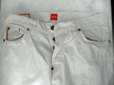 Genuine Mens Hugo Boss Orange Label HB 31 White Jeans/Pants 34 x 32