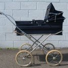 Vintage English Marmet Pram Navy Blue Baby Stroller Carriage