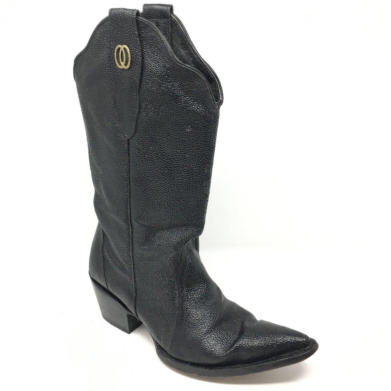 Veari Buitre Mens Black Stingray Cowboy Boots US Size 14 - 15