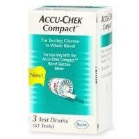 Accu-Chek COMPACT STRIPS (3 Drums) 51/Box