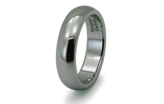 R10003 Tungsten Carbide Classic Dome Wedding Band