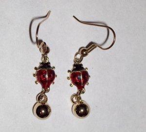 CLEARANCE: Ladybug Dangle Earrings